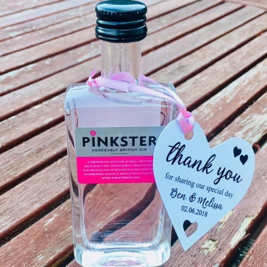 Wedding favour gin